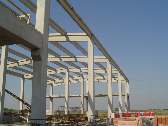 Precast Concrete Structures : Vitez projekt za projektiranje i nadzor u građevinarstvu